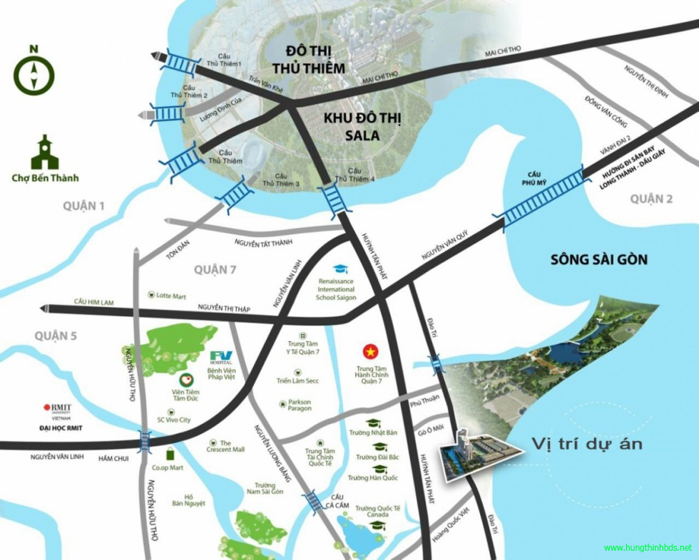 vị trí dự án q7 sài gòn riverside complex