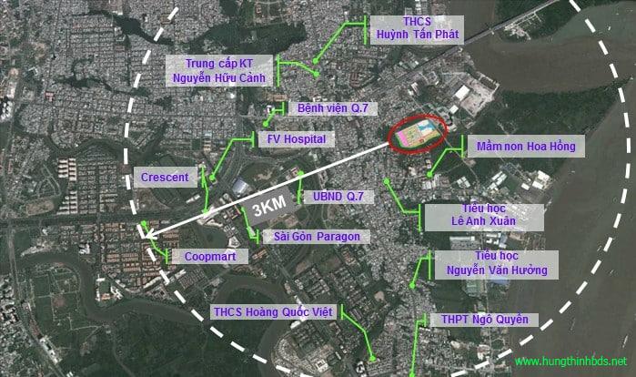 tiện ích xung quanh dự án q7 sài gòn riverside complex