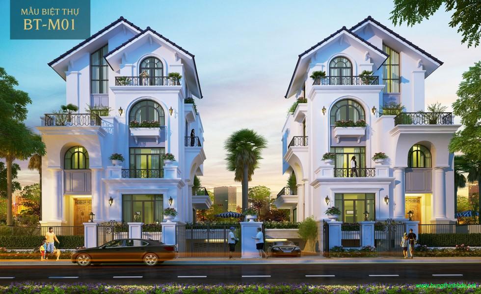 mẫu biệt thự dự án sài gòn mystery villas